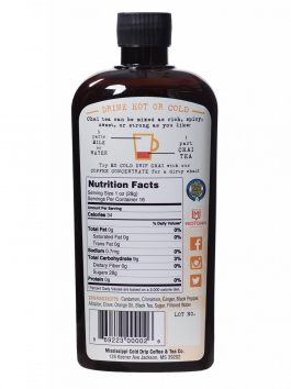 Chai Tea Concentrate: 16-ounce bottle